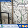 white arabescato marble floor tiles
