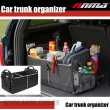 High quality material made car uses car trunk organiser car seat back organizer with folding tray