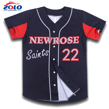 Custom Made Dye Sublimation Printing Baseball Uniforms