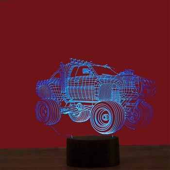 High Quality 7 Colors Change Club Model Car Model Illusion Custom 3D LED Night Lamp