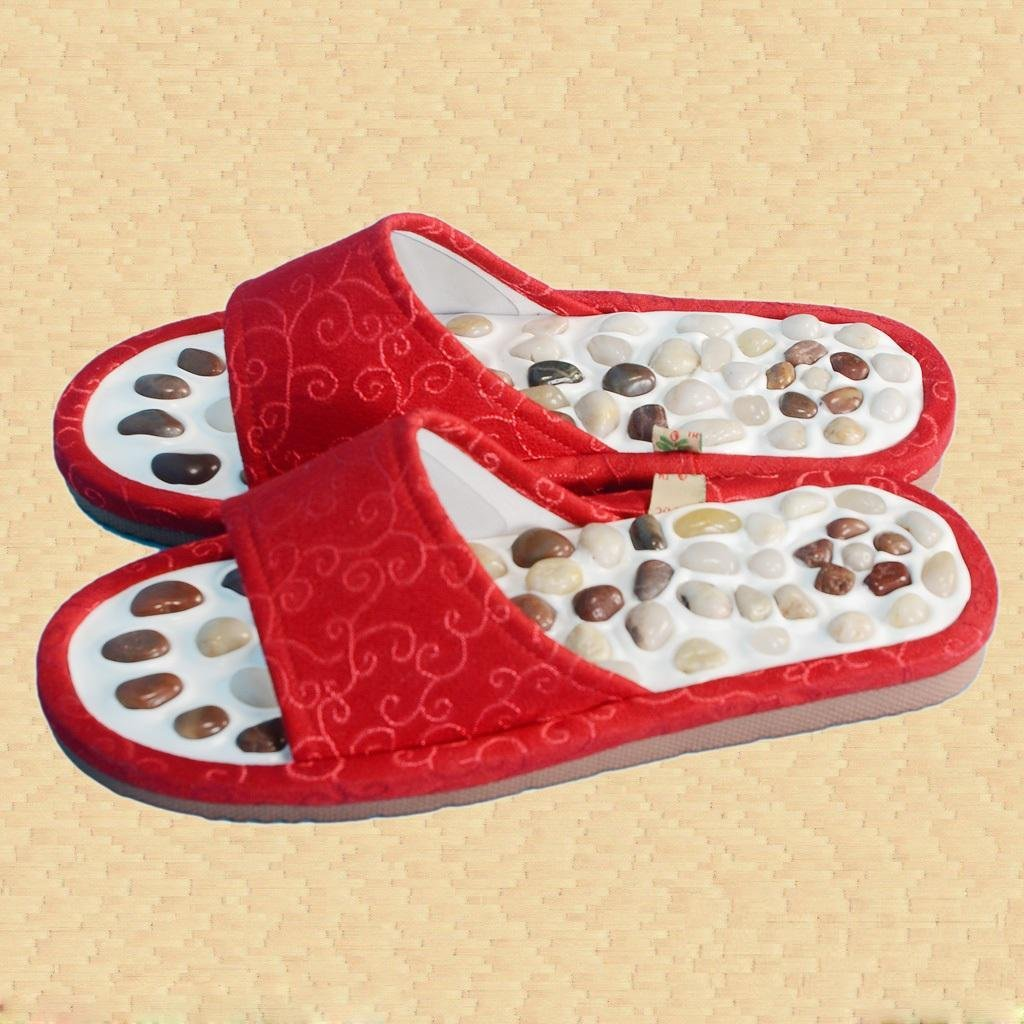 Natural Pebble Massage Shoes Health Care Massage Slippers Foot Massage Shoes