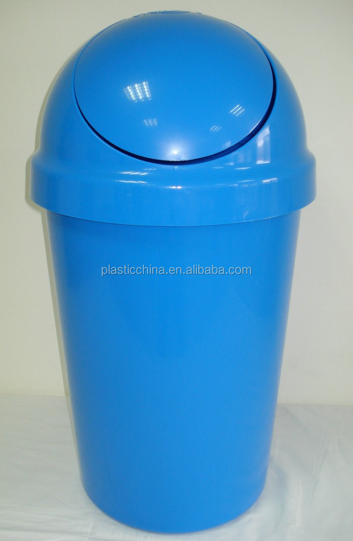 Top Quality Plastic Trash Bin 50l Swing Lid Dustbin Type With Round Cover