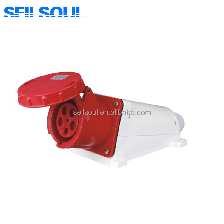 SSL-135 Outlet Splash Proof Industrial 3P+N+E 32 a 5 Pin Plug Socket 220-380V / 240-415V