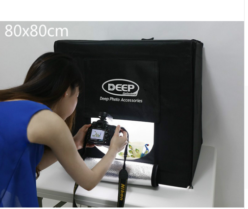 2017 new fashion portable Deep mini led studio photo shooting light soft box 40cm 60cm 80cm