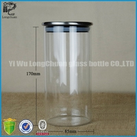 large stainless steel airtight high borosilicate tea canisters wholesale