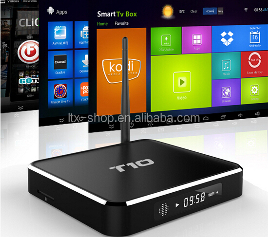 Original T10 android 5.1 TV box bluetooth and kodi 16.0 dual band wifi T10 smart tv box support OEM/OEM