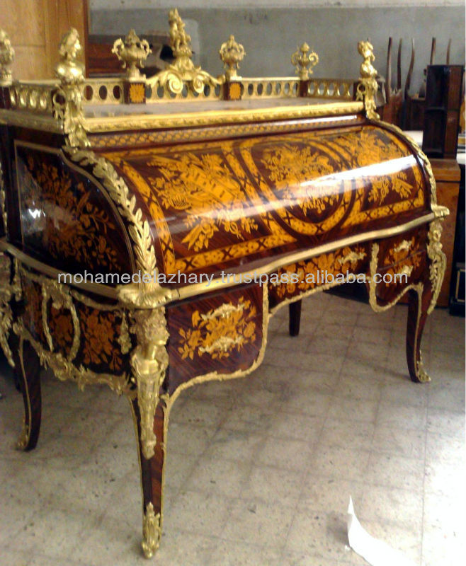 louis xv du roi el rey escritorio mesa cilindro rodillo superior mesas de oficina identificaci n. Black Bedroom Furniture Sets. Home Design Ideas