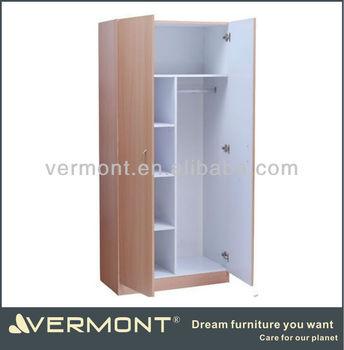 Small Wardrobe Design With Sliding Mirror Doors