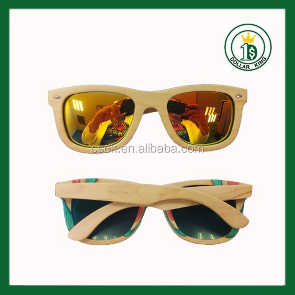 Natural Wood Sunglasses Brown Skateborad Sunglases