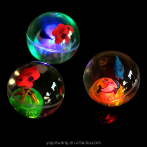 Rubber Glow Bouncing Ball Custom Transparent Plastic Led bouncing Ball