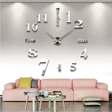 2016 new arrival Quartz font b clocks b font fashion watches 3d real big wall font
