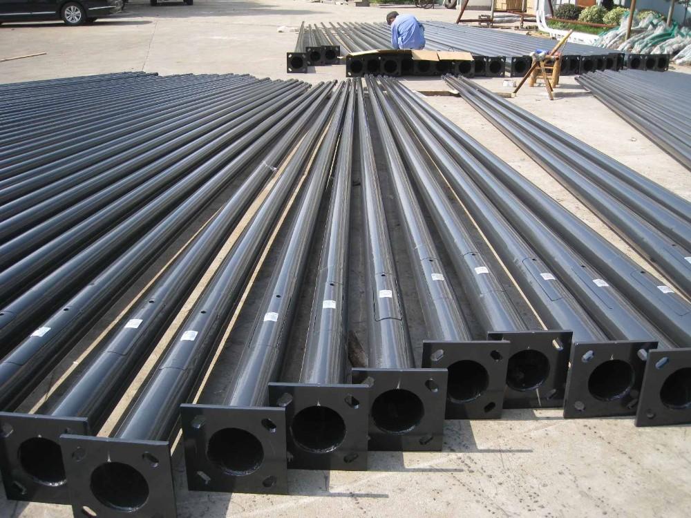 Outdoor Light Pole Galvanized Steel Tubular Pole Hdg Bolt