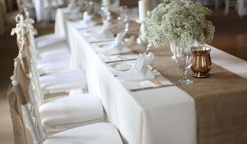 jute mariage chemin de table 14 x 72 100 toile de jute d coration de mariage chemin de. Black Bedroom Furniture Sets. Home Design Ideas