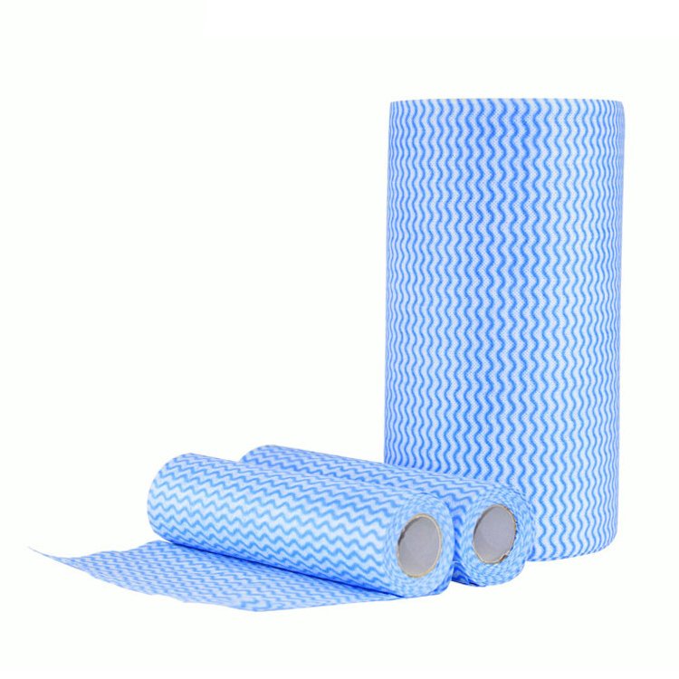 Perforated Soft Spunlace Nonwoven wipes roll Cleaning Cloth