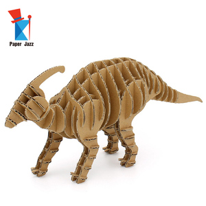 Creative Cardboard Project DIY Full Body Parasaurolophus