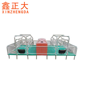 Low price hot dip galvanized pig farrowing crate / cage for sows