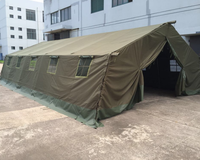 large 30 persons military canvas wall tent