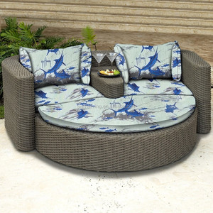 Chinese Style Garden Sofa Bed Balcony Sofa Bed Round Bed