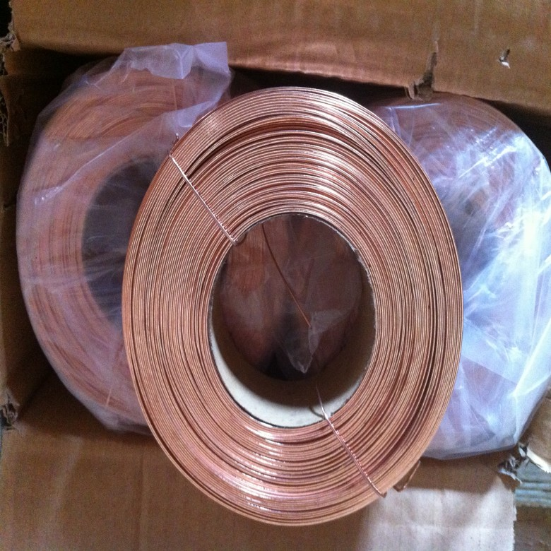 Copper coated carton flat wire 18# Copper Coated Stitching flat wire 18# 19# 20 # -2
