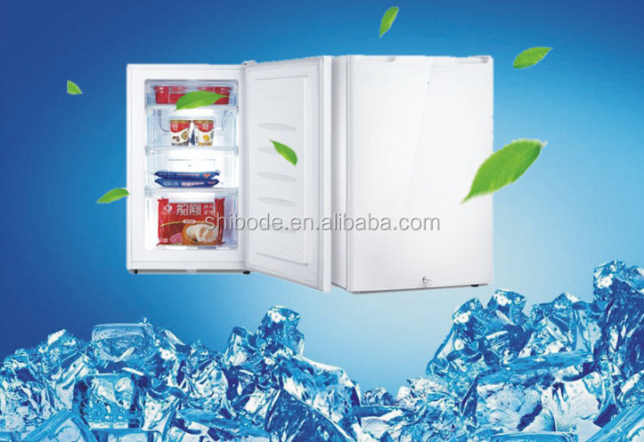 60L Mini ice cream refrigerator, beverages fridge, display chiller