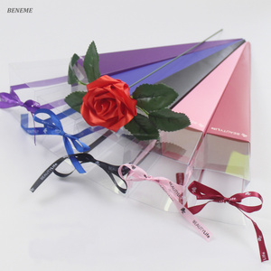 Hot Selling 41 cm 63 cm Long Paper Flower Box Cone Single Long Stem Roses Box