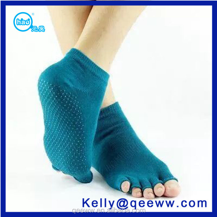 2016 fashion Amazon Supplier backless toeless Pilates Yoga Non Slip Sock Indoor Socks