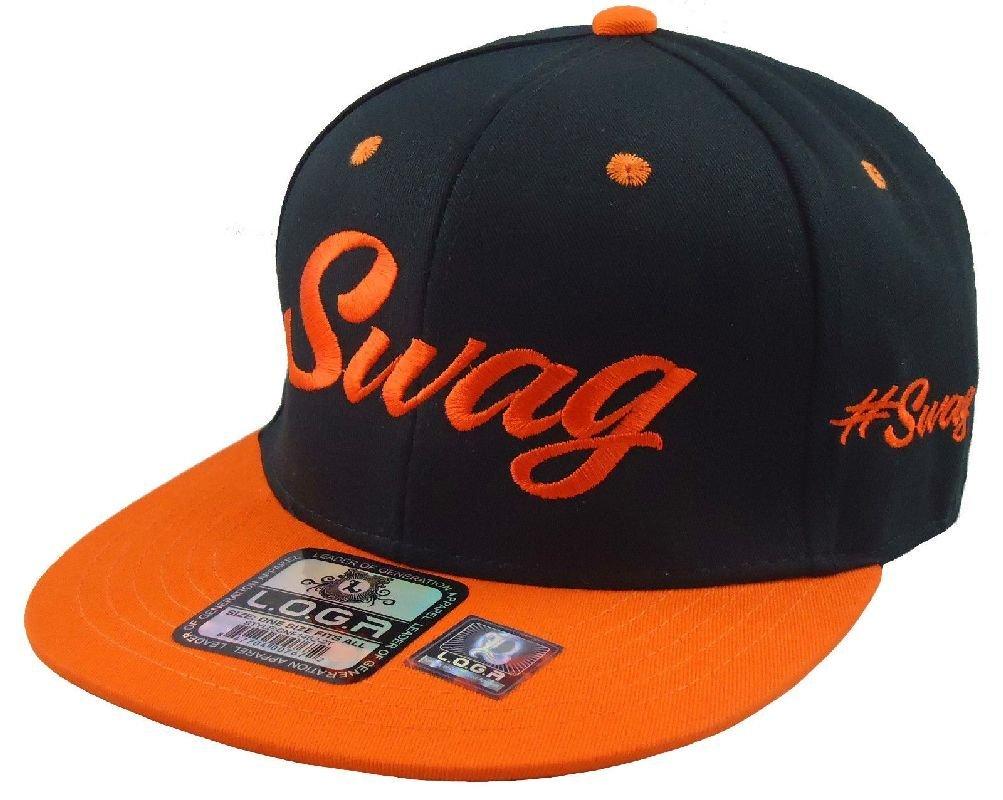 3289a2dff Buy New Swag Snapback Hat Flat Bill Hip Hop Hats caps Black Orange ...