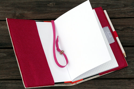 A3 A4 A5 journal / wholesale personalized hardcover notebooks custom felt cover