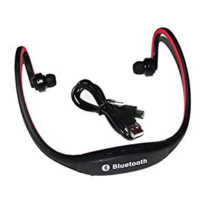MMOBIEL Handsfree Bluetooth 4.1 Sport Wireless Music Stereo Sound Neckband Headset Headphone with build-in Microphone for all Bluetooth Smarphones (Red)
