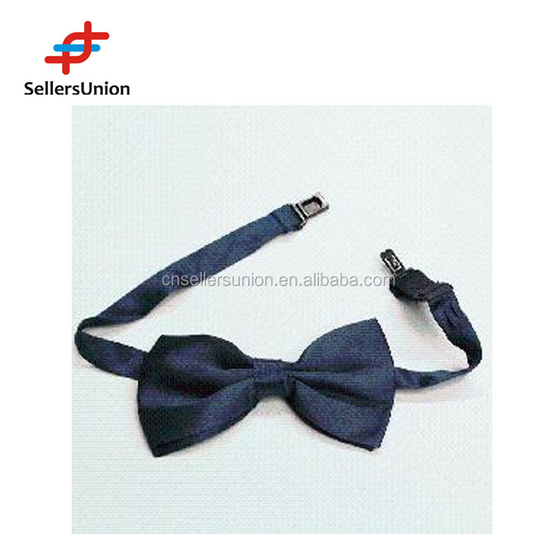 No.1 yiwu commision agent Cheap dark blue bow neck tie wanted for men