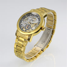 Новинка 2016, золотые часы WINNER, люксовый бренд, мужские Модные автоматические механические часы с вырезами, мужские часы(Китай)