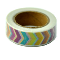 Fast delivery high quality jumbo roll green polyester colorful gum tape