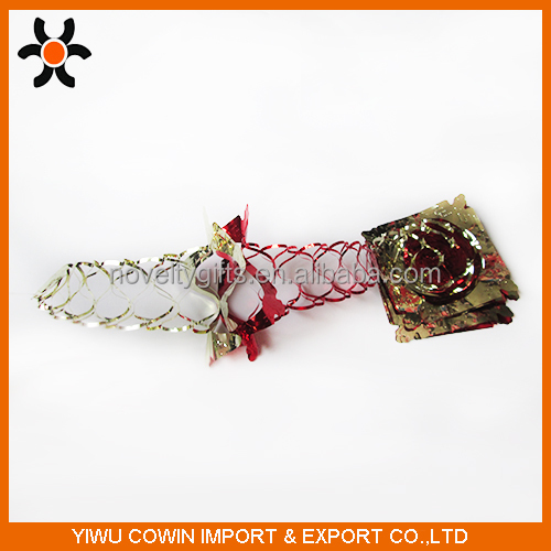 15*15cm Christmas decoration colorful Ribbon with fur fancy festival accessory indoor ornaments