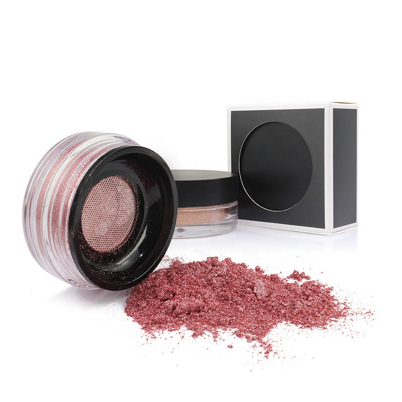 Cosmetics 3D Face Shimmer Highlighter Powder 8 Colors Custom Loose Pigment Glitter Makeup Highlighter Powder