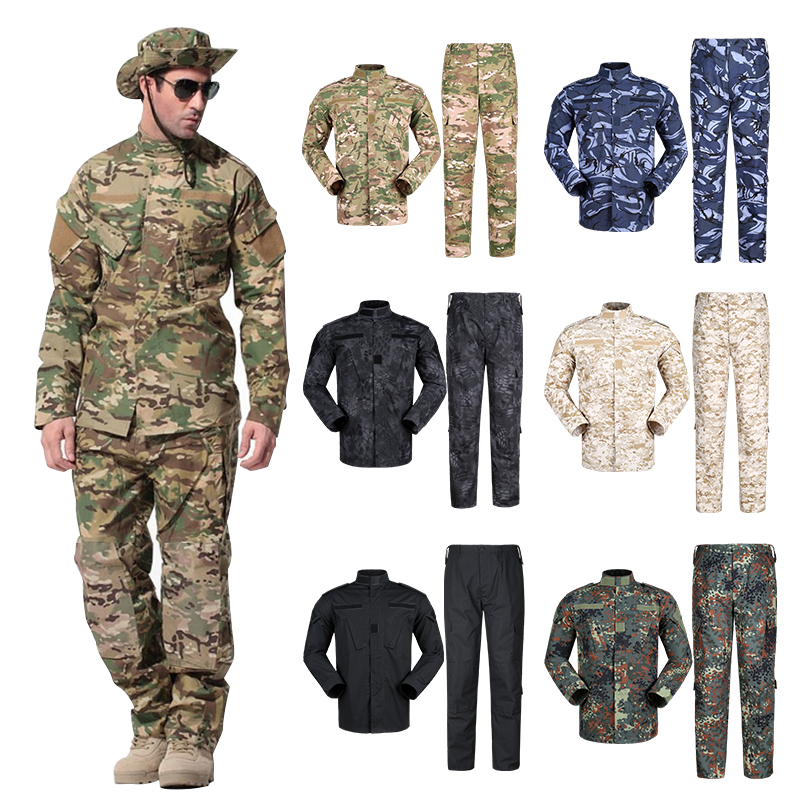 Brilliant New Men Tactical Military Uniform Frog Camouflage Suit Us Army Long Sleeve Top Shirt Multicam Woodland Bdu Clothing Set Men's Clothing