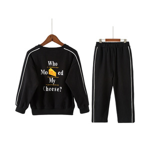 VT010 Girls' kit summer 2018 children's Korean sports kit with two-piece long-sleeve printed cotton