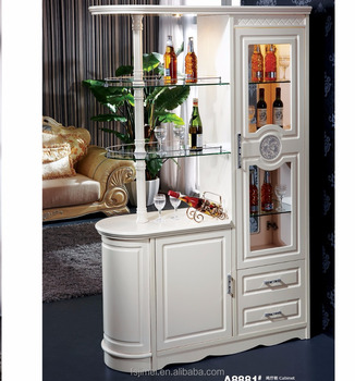 White Color Wooden Display Cabinet