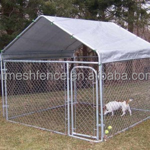 6ft Height Dog Run Kennel Large Outdoor With Top Roof Cover