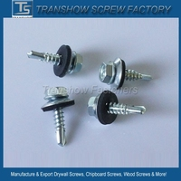 In stock sales 4.8X19mm hex washer head SDS roofing screws