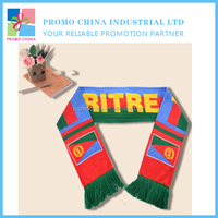Hot Selling Custom Promotional Polyester Fans Scarf For Football