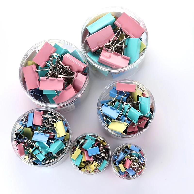 뜨거운 판매 바인더 클립 51mm 다채로운 금속 나비 모양 꼬리 클립 사무 용품