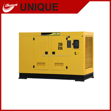 electric generaor with low fuel consumption,200/220kw portable diesel generating set for sale