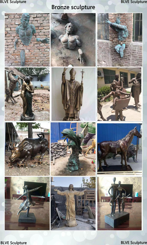Eestern estilo new design Hot sale homem de bronze estátua de Miyamoto Musashi Samurai para parque ao ar livre do jardim escultura para venda BSG-185