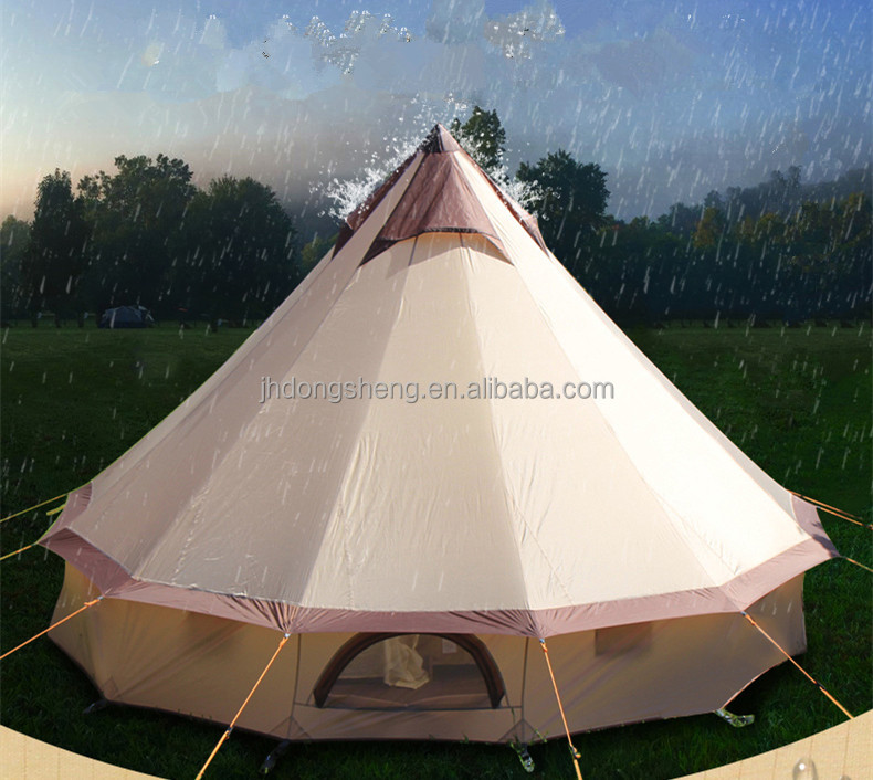 Factory Price Family Bell Tent Mongolia Yurt Up To 10 Person A+Quality Waterproof Canvas Tent
