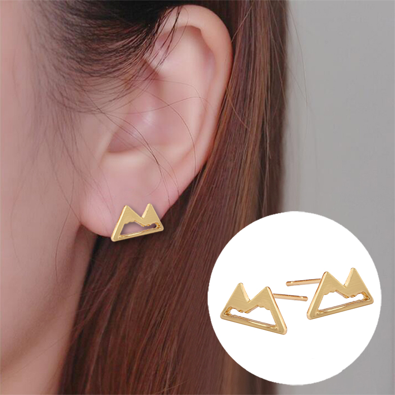 New Arrival Unique Design Snow Mountain Earrings 316 L Stainless Steel Surgical Jewelry Hot Selling Products