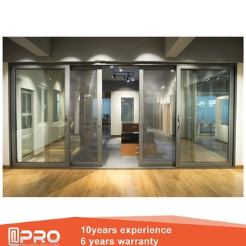 Aluminum Alloy Soundproof Interior Sliding Door Aluminium Sliding Door  Pictures