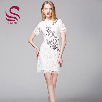 7290c6e5c78e Spring summer dress new temperament of Chinese wind plum blossom embroidery  qipao