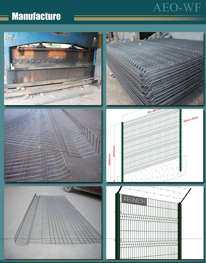 hot sale 3d model steel fence postspowder coated wire mesh panelshog wire