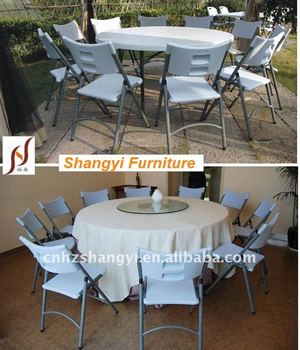 white plastic top 6ft round folding dining table in home&garden 6ft Dining Table