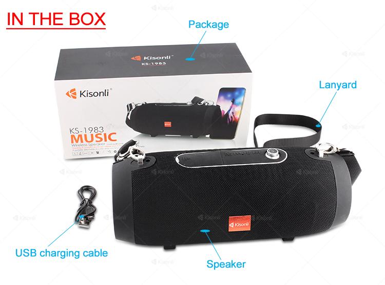 Kisonli Outdoor Camouflage Wireless Portable Mini BT Outdoor Speaker Amplifier